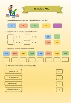 Interactive worksheet Revisão 7 Ano