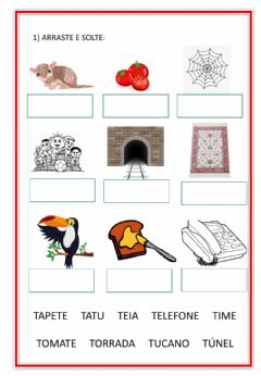 Interactive worksheet Letra T
