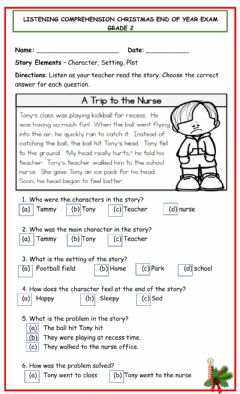 Interactive worksheet Listening comprehension Christmas Exam