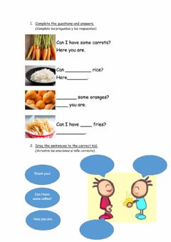 Interactive worksheet Can I have some? - Here you are.