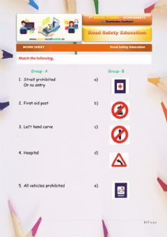Interactive worksheet Road safety education