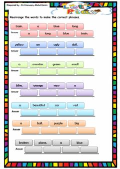 Interactive worksheet Let's play year 1