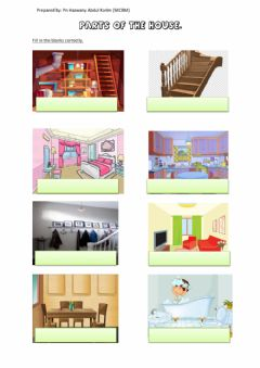 Interactive worksheet The old house year 2