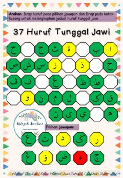 Interactive worksheet Huruf tunggal jawi