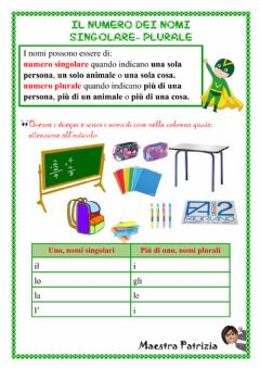 Interactive worksheet Singolare-plurale