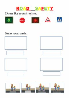 Interactive worksheet Road safety.