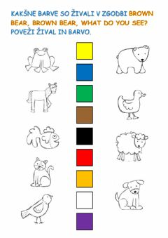 Interactive worksheet Brown bear, brown bear, what do you see