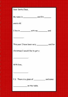 Interactive worksheet A Letter to Santa