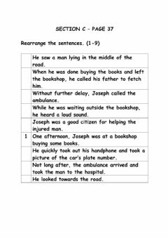 Interactive worksheet A Road Accident