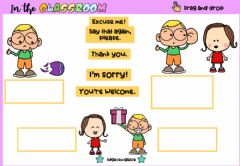 Interactive worksheet Manner Words (Drag and drop)