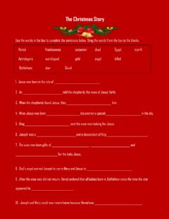 Interactive worksheet The Christmas Story
