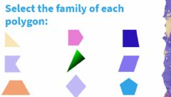 Interactive worksheet Triangles, Quadrilaterals and Pentagons