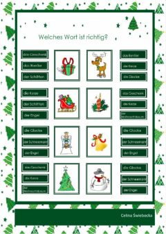 Interactive worksheet Weihnachten-Winter