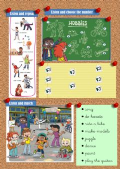 Ficha interactiva Hobbies-vocabulary