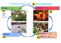 Interactive worksheet The four seasons- class 3