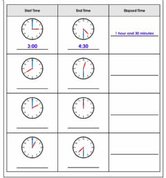 Ficha interactiva Elapsed time