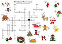 Ficha interactiva Christmas Crossword