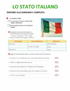 Interactive worksheet Lo Stato italiano