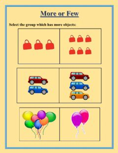 Interactive worksheet More or Few: More