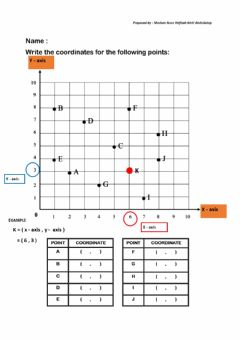 Interactive worksheet Coordinates