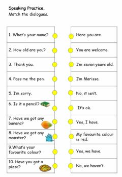 Interactive worksheet Cefr year 1: Revision (Dialogues)