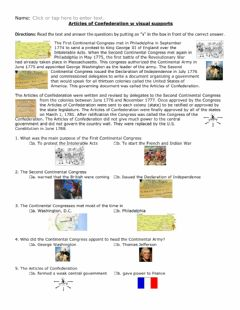 Interactive worksheet Articles of Confederation w visual supports