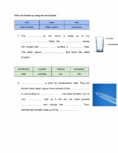Interactive worksheet Evaporation & condensation
