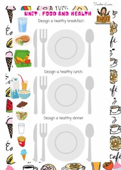 Interactive worksheet Design a healthy meal