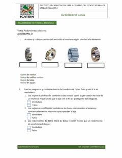 Interactive worksheet Rodamientos