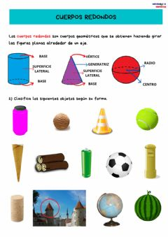Interactive worksheet Cuerpos redondos