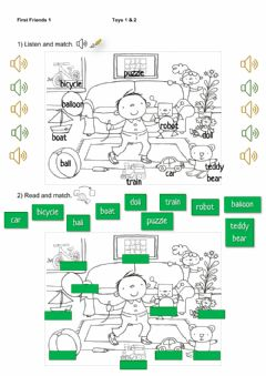 Interactive worksheet First Friends 1 - Toys 1&2