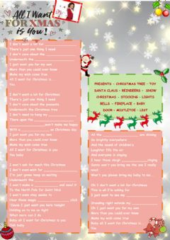 Ficha interactiva All I want for Christmas is you