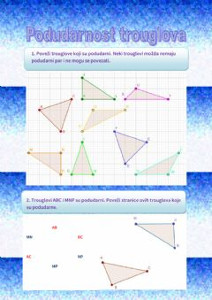 Interactive worksheet Podudarnost trouglova