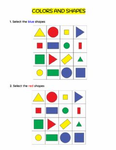 Interactive worksheet Colors and shapes
