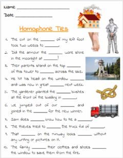 Interactive worksheet Homophone Exercise 5