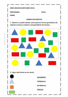 Interactive worksheet Formas