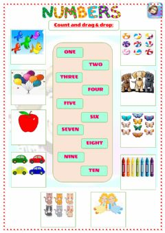 Interactive worksheet Grade 2-Unit 4-Numbers 1-10