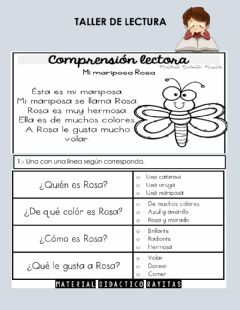 Interactive worksheet Taller de lectura