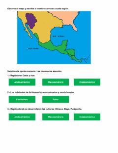 Interactive worksheet Mesoamérica