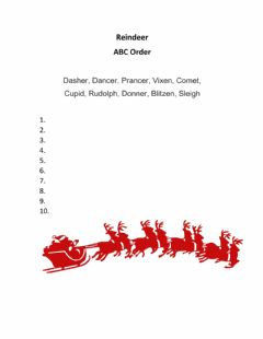 Interactive worksheet Rudolph the red nosed reindeer
