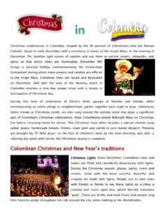 Interactive worksheet Christmas in Colombia