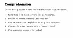 Interactive worksheet Reading - Social Media