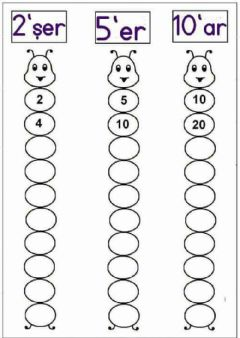 Ficha interactiva Counting by 2,5, & 10
