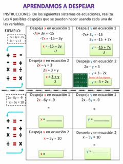 Interactive worksheet Aprendamos a despejar