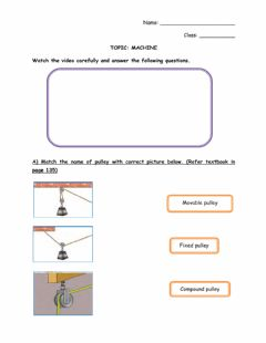 Interactive worksheet Types of Pulley