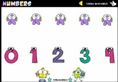Interactive worksheet Numbers 1-10 (Listen and match)