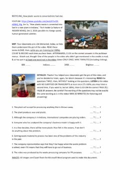 Interactive worksheet SMT-RECYCLING-how plastic is converted into fuel