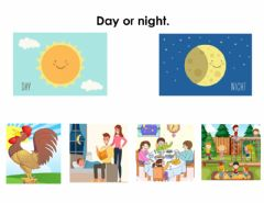 Interactive worksheet Day or night