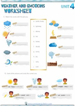 Interactive worksheet Weather and Emotions