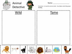 Ficha interactiva Wild vs. Tame Sort